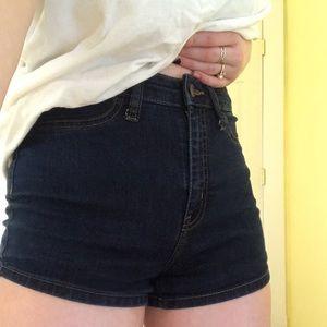 target dark wash blue jean shorts